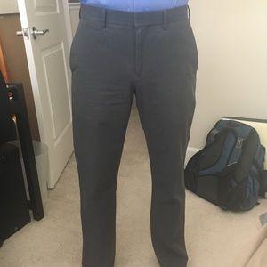 Slate grey-blue pinstripe dress pants from BR